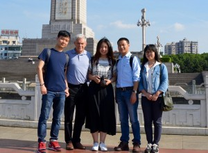 Professor John Rennie Short with students in Nanchang, China